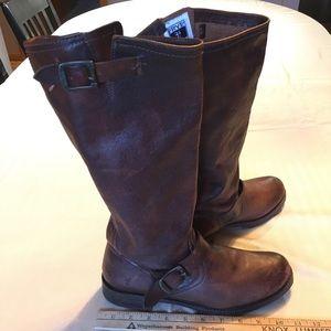 Veronica Frye Genuine Italian Leather Brown Boots